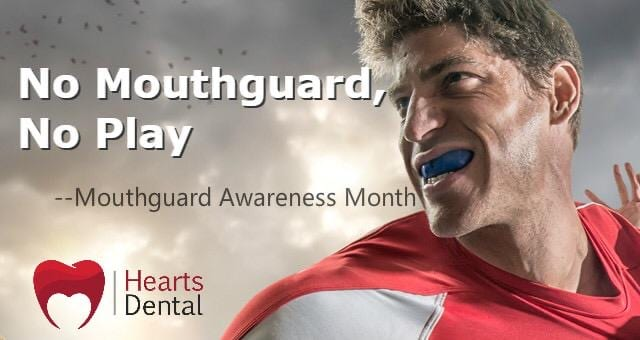 Hearts Dental Mouth Guard Banner