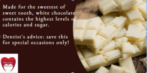 white chocolate and teeth